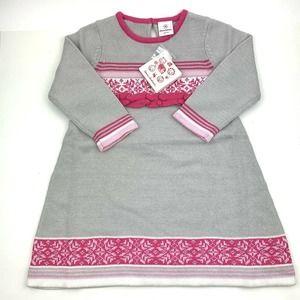 NWT Hanna Andersson Nordic Fair Isle Sweater Dress